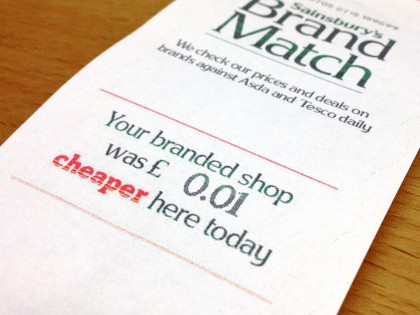 "Supermarket ""price match"" deals are marketing genius"